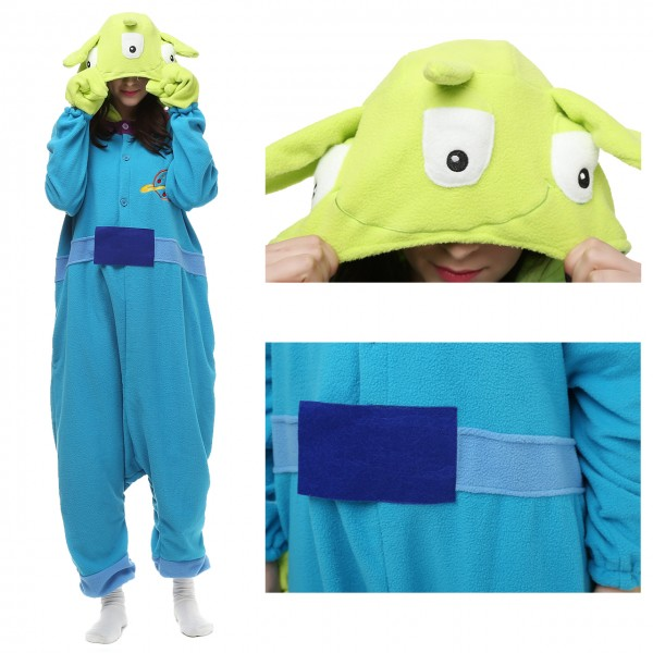 Three Eyed Monster Alien Onesie Kigurumi Pajama for Adult Halloween Costumes