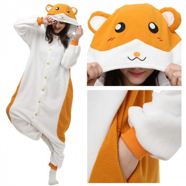 Hamster Onesie Unisex Women &Men Animal Pajama Kigurumi Party Costume