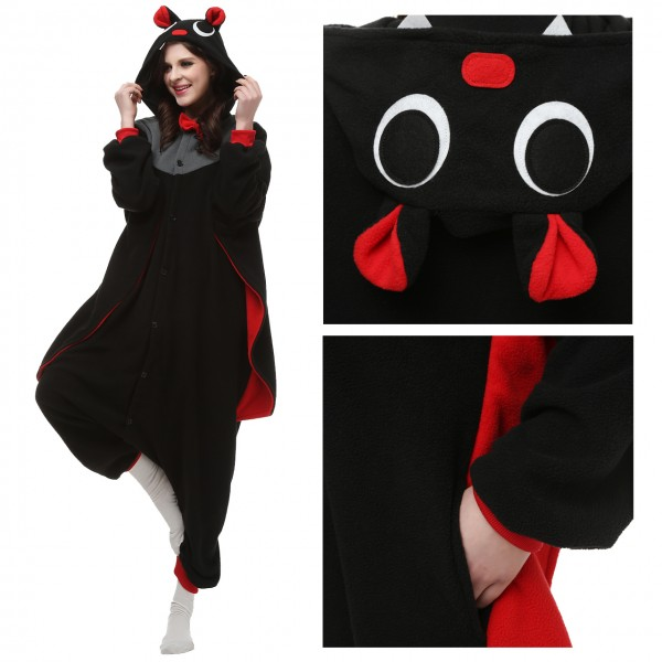 Bat Onesie Unisex Women &Men Animal Pajama Kigurumi Party Costume