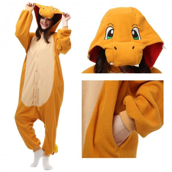 Charmander Onesie Unisex Women & Men Kigurumi Pajama Pokemon Carnival Costumes