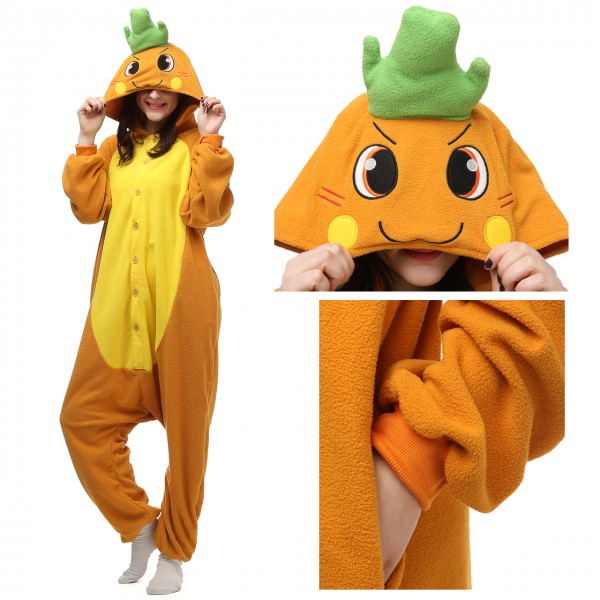 Carrot Onesie Women & Men Pajama Kigurumi Halloween Carnival Costumes