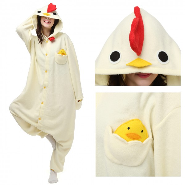 Cock Onesie Animal Pajama Women & Men Kigurumi Halloween Carnival Costumes
