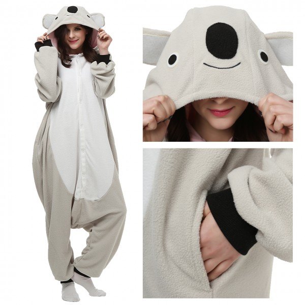 Koala Onesie Animal Kigurumi Pajama Women & Men Party Costumes