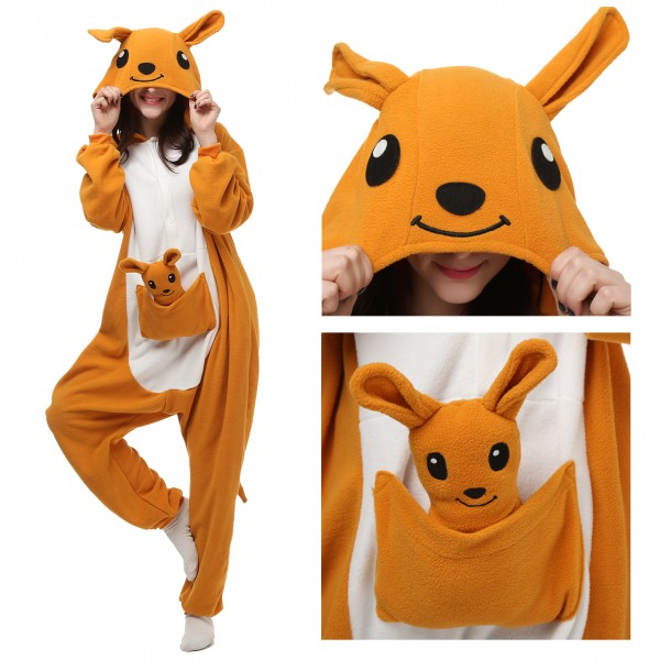 Kangaroo Onesie Animal Kigurumi Pajama Women & Men Party Costumes