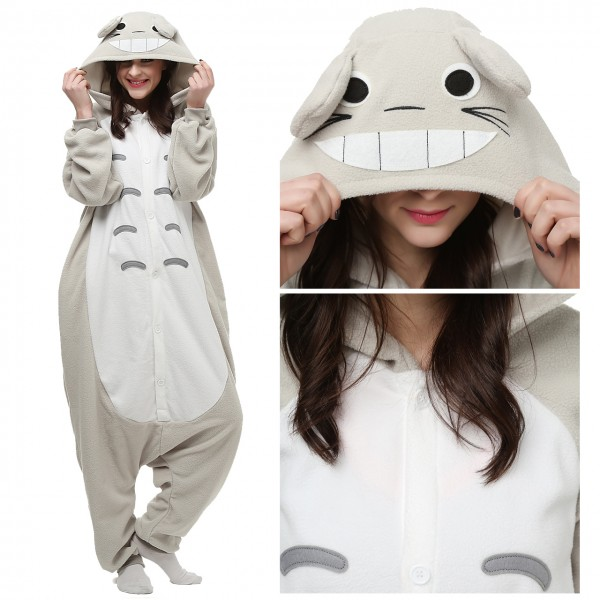 Totoro Onesie Unisex Women & Men Animal Pajama Kigurumi Party Costume