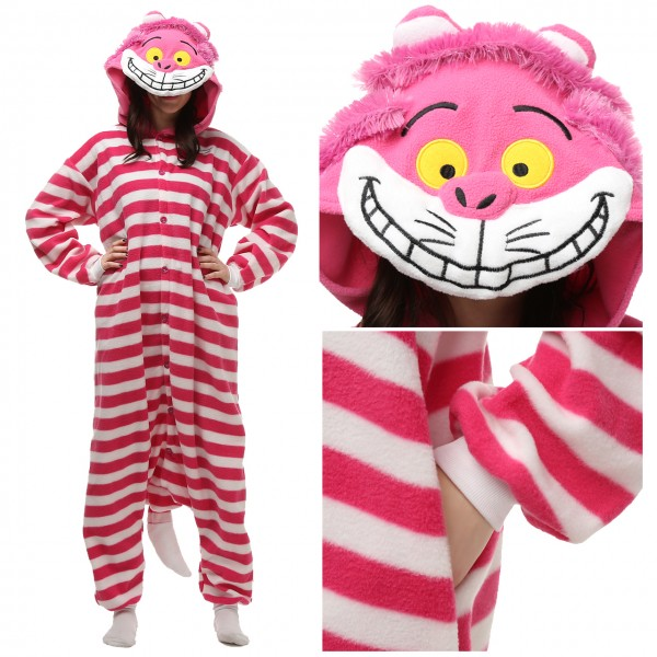 Cheshire Cat Onesie Unisex Women & Men Animal Pajama Kigurumi Party Costume