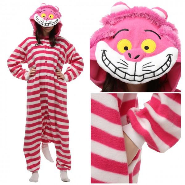 Cheshire Cat Onesie Unisex Women & Men Animal Pajama Kigurumi Party Costume