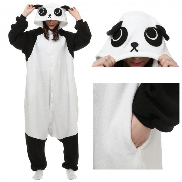 Panda Onesie Unisex Women & Men Kigurumi Animal Pajama Party Costumes