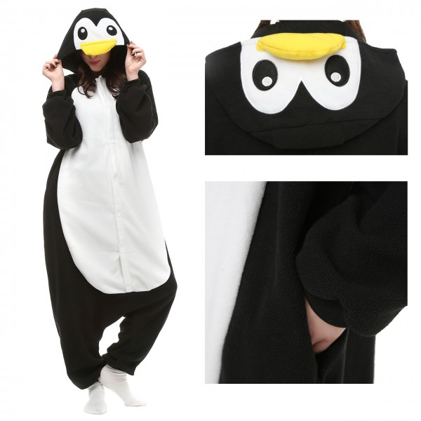 Penguin Onesie Unisex Women & Men Kigurumi Animal Pajama Party Costumes