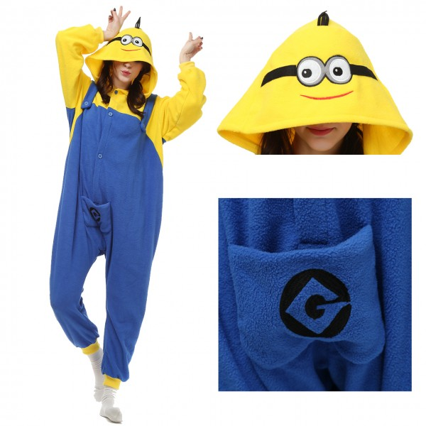 Minions Onesie Women & Men Kigurumi Pajama Halloween Party Costumes