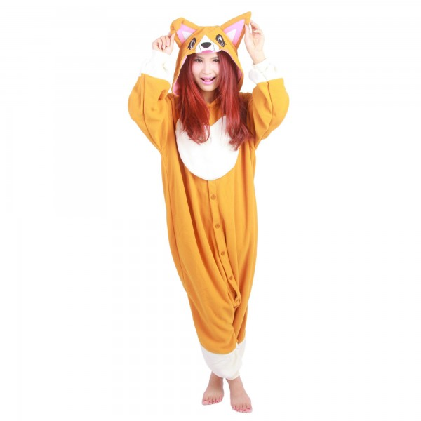 Corgi Dog Onesie Unisex Women & Men Animal Kigurumi Pajama Party Costumes
