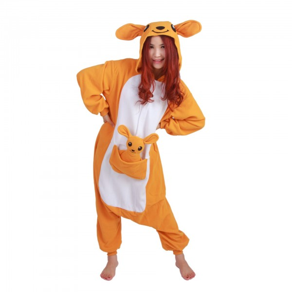 Kangaroo Onesie Unisex Women & Men Animal Kigurumi Pajama Halloween Party Costumes