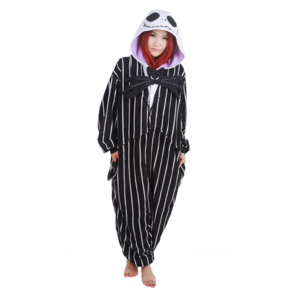 Jack Skellington Onesie Unisex Women & Men Kigurumi Pajama Halloween Cosplay Costumes