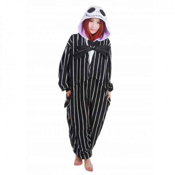 Jack Skellington Onesie Unisex Women & Men Kigurumi Pajama Halloween Cosplay Costumes