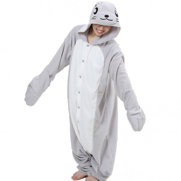 Seal Onesie Unisex Women & Men Animal Kigurumi Pajama Halloween Party Costumes