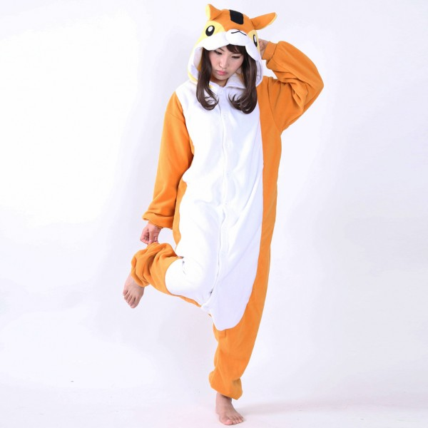 Chipmunk Onesie Unisex Women & Men Animal Kigurumi Pajama Halloween Party Costumes