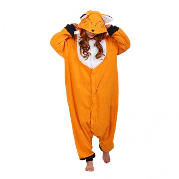 Japanese Red Fox Onesie Unisex Women & Men Animal Kigurumi Pajama Halloween Party Costumes