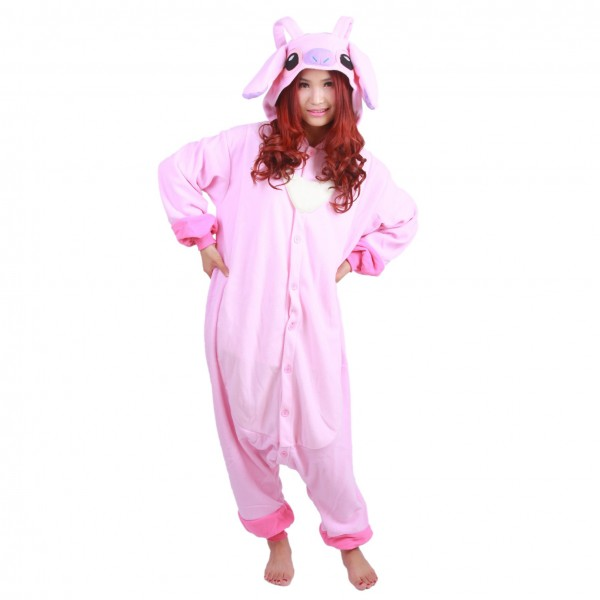 Angel Stitch Onesie Unisex Women & Men Kigurumi Pajama Disney Cosplay Party Costumes