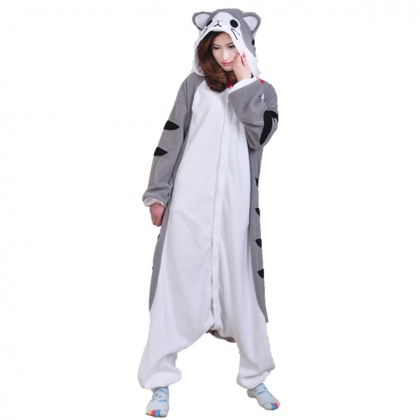 Tabby Cat Onesie Unisex Women & Men Animal Pajama Kigurumi Halloween Costumes