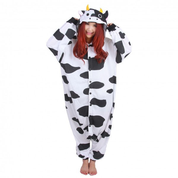 Cow Onesie Unisex Women & Men Animal Pajamas Kigurumi Halloween Costumes