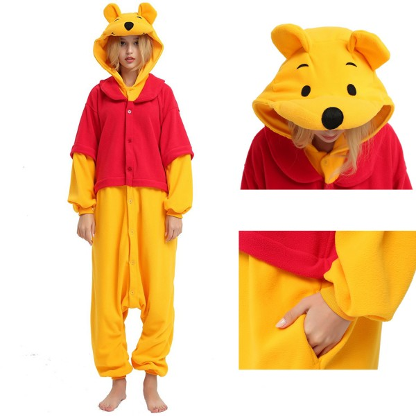 Winnie the Pooh Onesie Unisex Women & Men Disney Kigurumi Pajamas Party Halloween Costumes