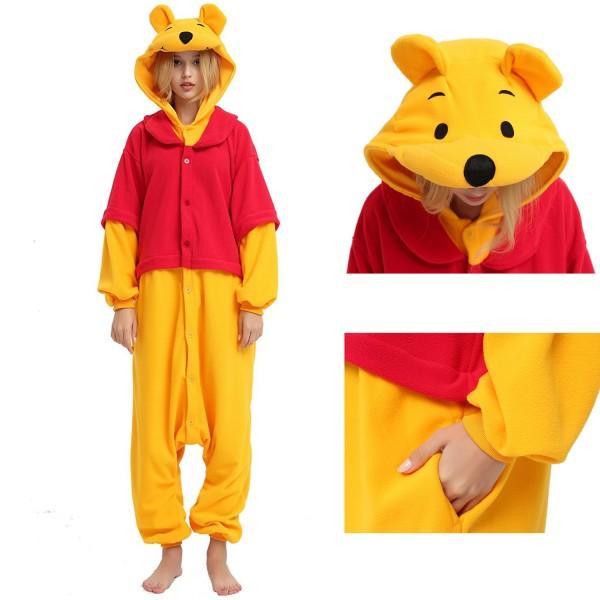 Winnie the Pooh Onesie Unisex Women & Men Disney Kigurumi Pajamas Party Halloween Costumes