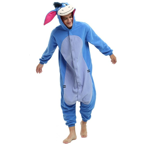 Eeyore Donkey Onesie Unisex Women & Men Animal Pajamas Kigurumi Halloween Costumes