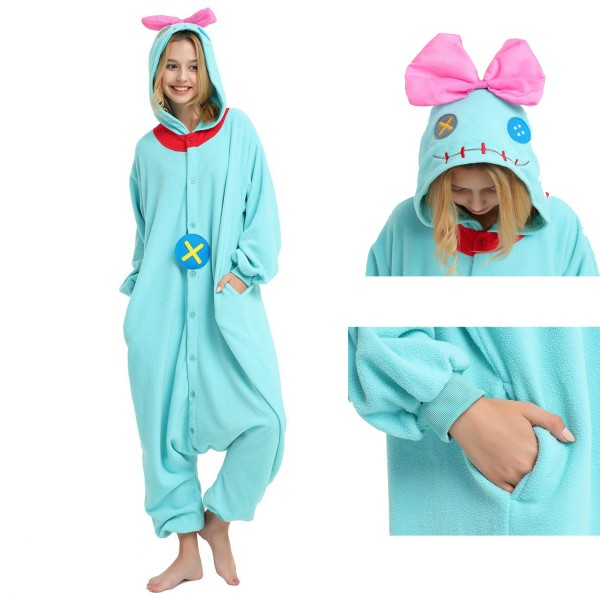 Scrump the Doll Onesie for Adult Kigurumi Pajama Disney Lilo & Stitch Party Costumes