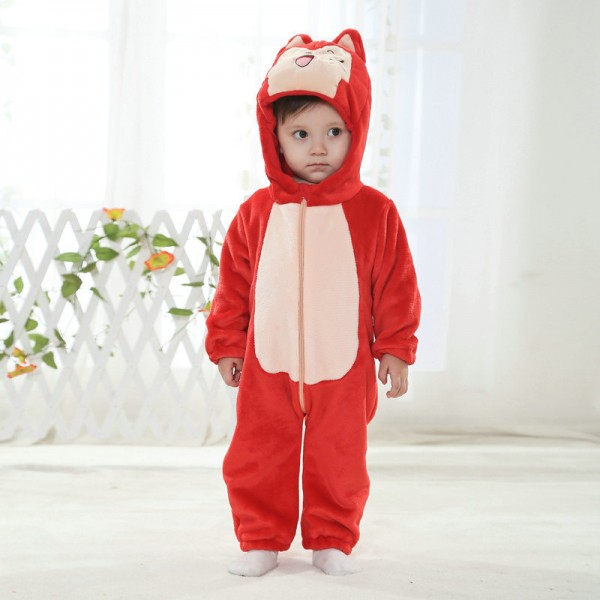 Ali Fox Onesie for Baby & Toddler Animal Kigurumi Pajama Halloween Costumes