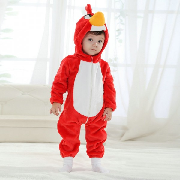 Red Angry Bird Onesie for Baby & Toddler Animal Kigurumi Pajama Halloween Costumes