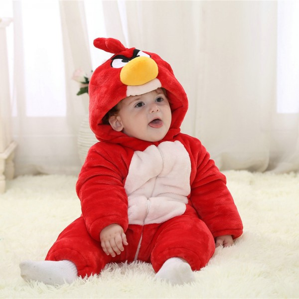 Angry Bird Onesie for Baby & Toddler Animal Kigurumi Pajama Halloween Costumes