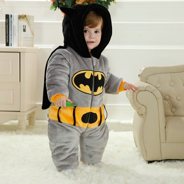Batman Onesie for Baby & Toddler Animal Kigurumi Pajama Halloween Costumes