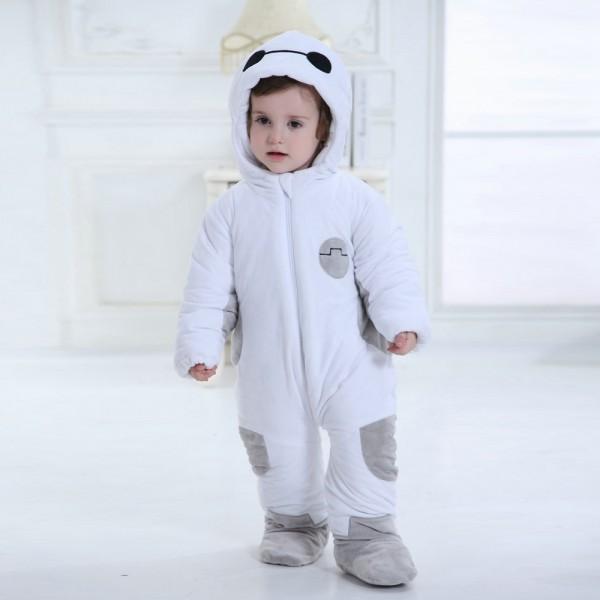 Baymax Onesie for Baby & Toddler Animal Kigurumi Pajama Halloween Costumes