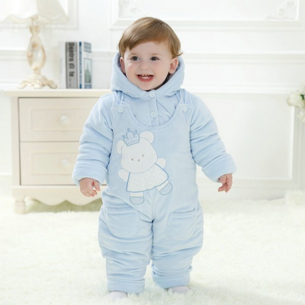 Blue Bear Onesie for Baby & Toddler Animal Kigurumi Pajama Halloween Costumes