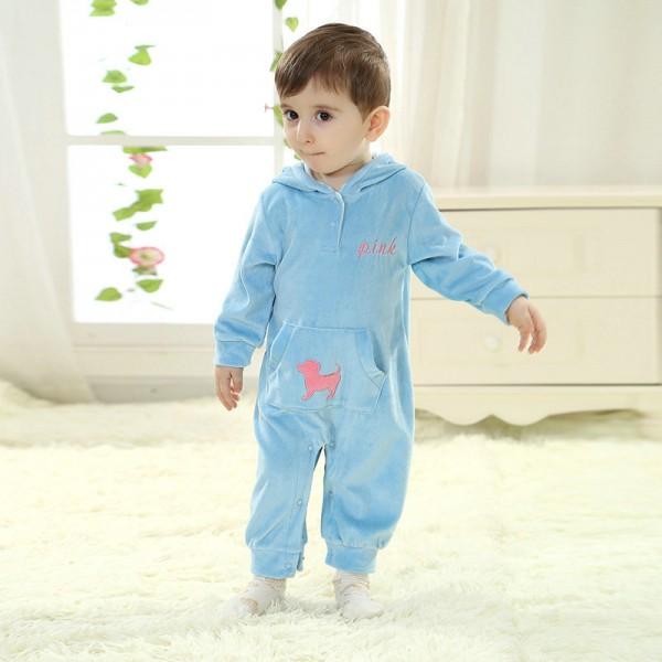 Blue Dog Onesie for Baby & Toddler Animal Kigurumi Pajama Halloween Costumes