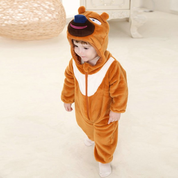 Bramble Bear Onesie for Baby & Toddler Animal Kigurumi Pajama Halloween Costumes
