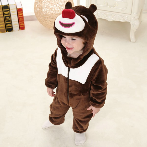 Briar Bear Onesie for Baby & Toddler Animal Kigurumi Pajama Halloween Costumes