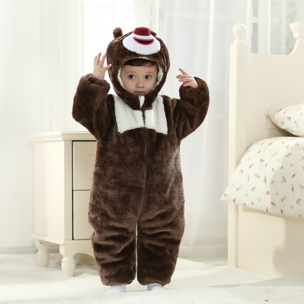 Briar Bear Onesie for Baby & Toddler Animal Kigurumi Pajama Party Costumes