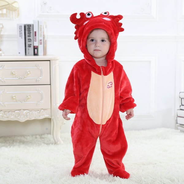 Red Cancer Onesie for Baby & Toddler Constellation Kigurumi Pajama Halloween Costumes