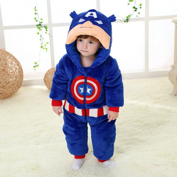 Captain America Onesie for Baby & Toddler Animal Kigurumi Pajama Party Costumes