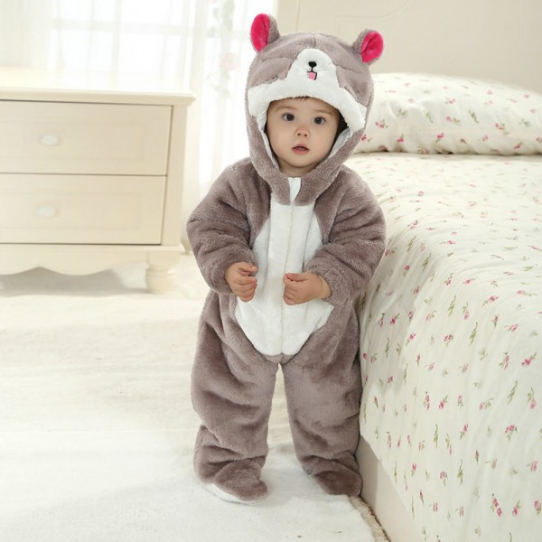 Cat Onesie for Baby & Toddler Animal Kigurumi Pajama Halloween Costumes