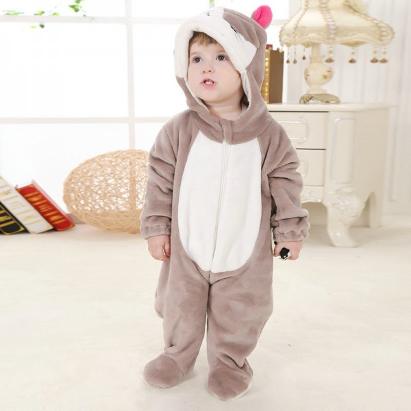 Cat Onesie for Baby & Toddler Animal Kigurumi Pajama Party Costumes