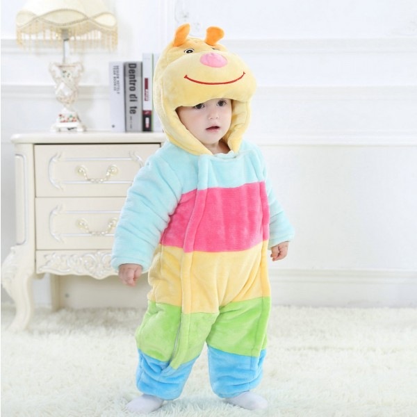 Colorful Dog Onesie for Baby & Toddler Animal Kigurumi Pajama Halloween Costumes