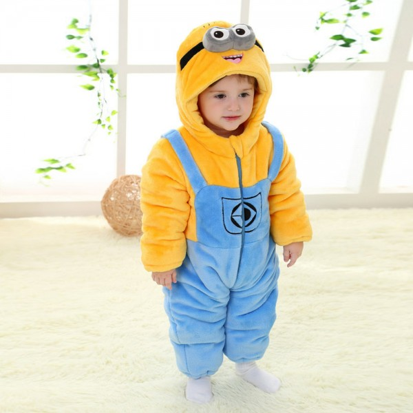Minions Onesie for Baby & Toddler Animal Kigurumi Pajama Halloween Costumes