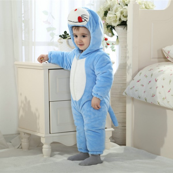 Doraemon Onesie for Baby & Toddler Animal Kigurumi Pajama Halloween Costumes