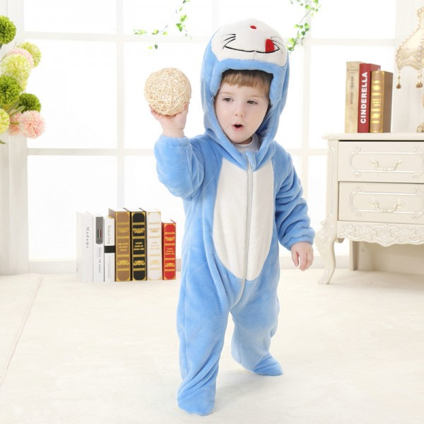 Doraemon Onesie for Baby & Toddler Animal Kigurumi Pajama Party Costumes