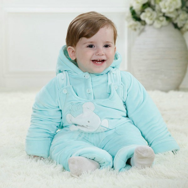 Blue Bear Onesie for Baby & Toddler Animal Kigurumi Pajama Party Costumes