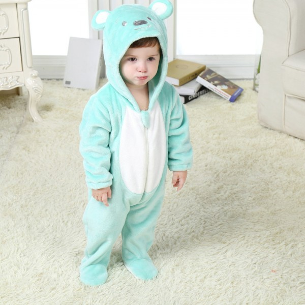 Blue Bear Onesie for Baby & Toddler Animal Kigurumi Pajama Carnival Costumes