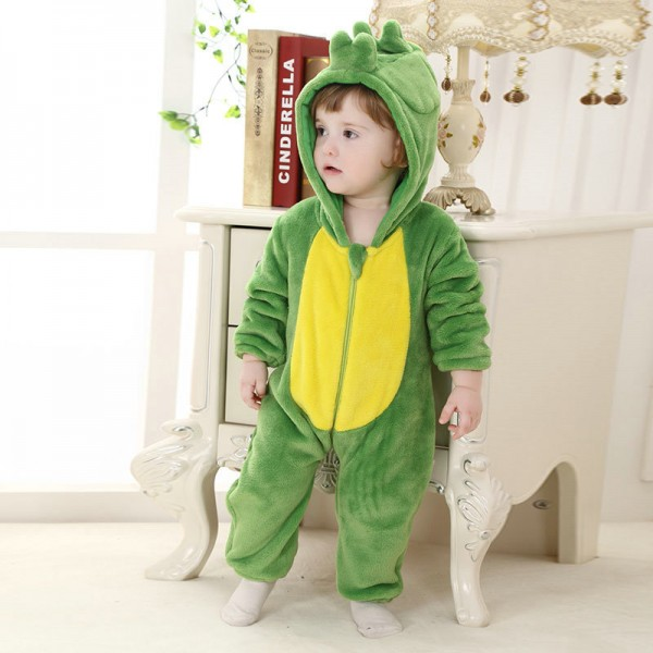 Green Dinosaur Onesie for Baby & Toddler Animal Kigurumi Pajama Halloween Costumes