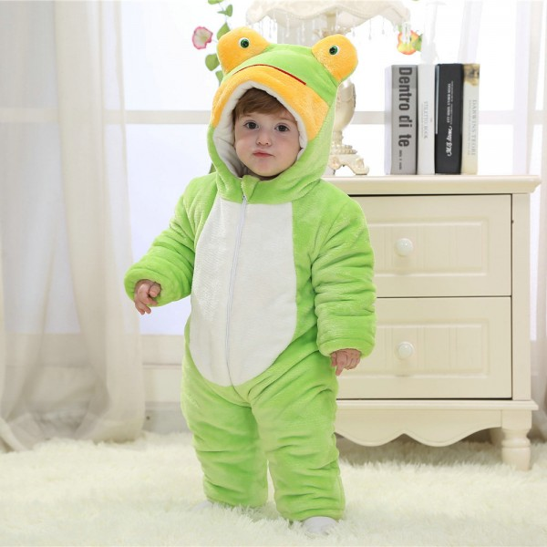 Frog Onesie for Baby & Toddler Animal Kigurumi Pajama Party Costumes